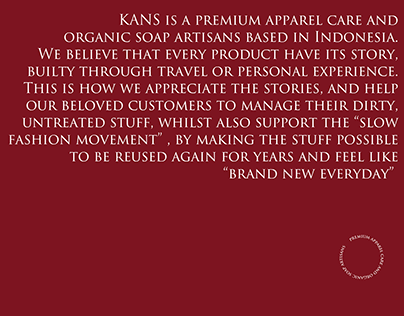 Kans - Premium Apparel Care and Organic Soap Artisans