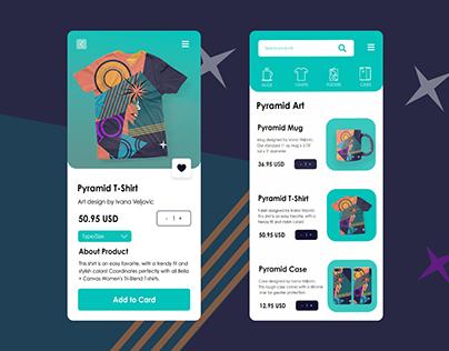 eCommerce Mobile Design + Product Illustration
