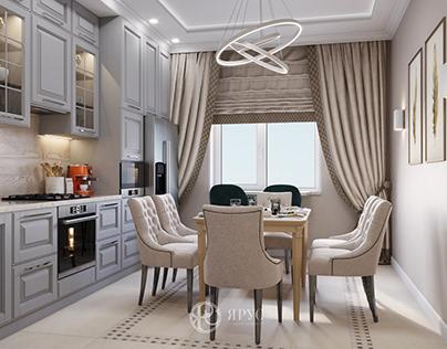 Четырёхкомнатная квартира в классическом стиле