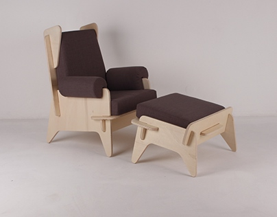 'ABBA'_armchair and footstool