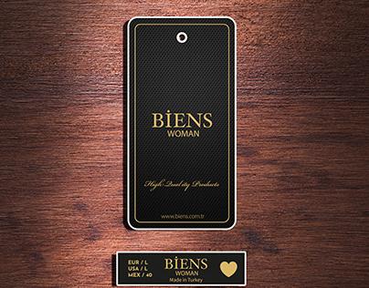 Biens Label Card Design