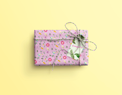 wrapping paper summer pattern