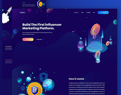 Cryptocurrency Landing Page | Exploration