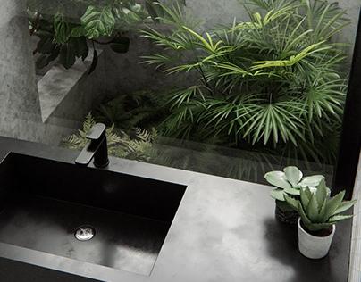 CGI-plant bathroom