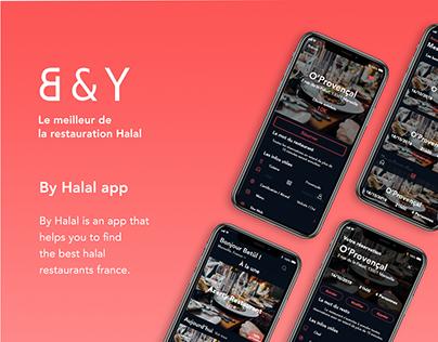 By Halal Mobile app UI/UX Design