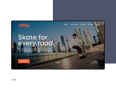 Website for selling electric skateboards
