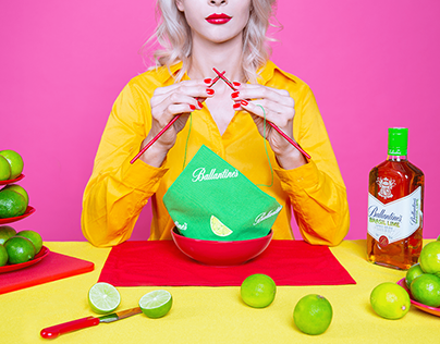 Ballantine's brasil lime   creative photography