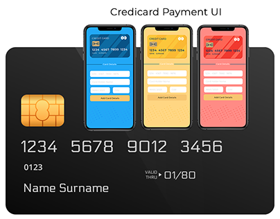 Credit Card Details UI Mobile App