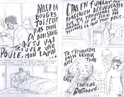 Fanzine l'obsession story board 1