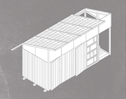 Modular wooden shed