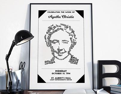 Agatha Christie Event Poster