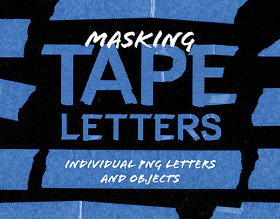 Masking Tape Letters