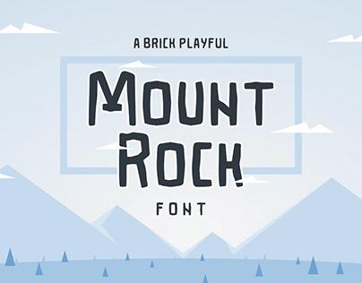 FREE Font   Mountrock Summer Camp