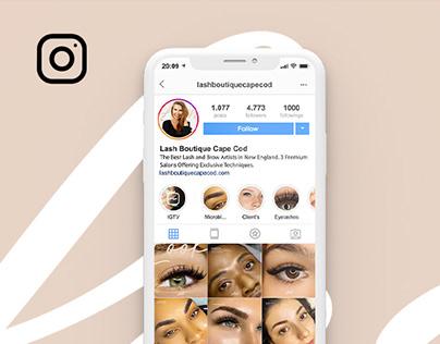 Social Mídia - Lash Boutique