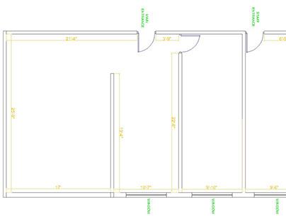 Office Interior design - 1250 sqft area.