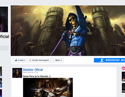 How would be Skeletor's FB page
