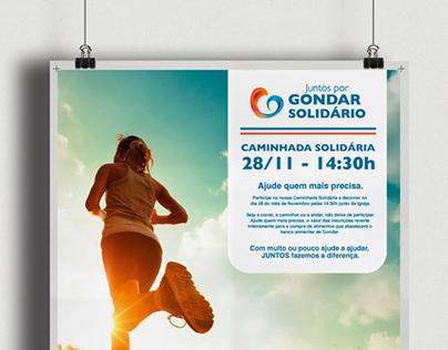Cartaz Publicitário - Caminhada Solidária