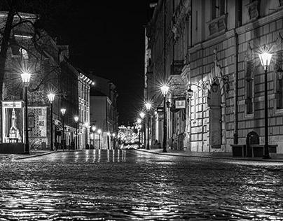 Center of Krakow B&W - part II