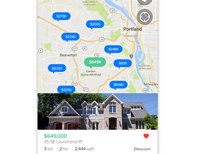 Real Estate iPhone app concept