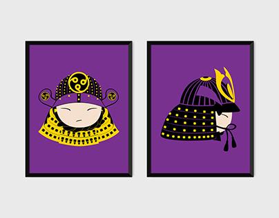 Samurai Pop Art Prints