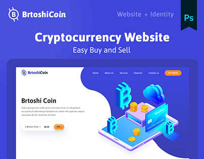 Cryptocurrency Web UI - Landing page