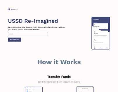 Sharpsend Early Access Landing Page
