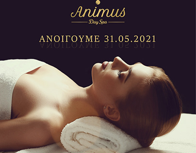 Animus massage & day SPA commercial banner design