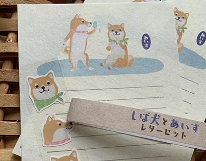 Letter writing Set design