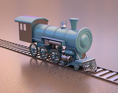 Old Locomotive 3D