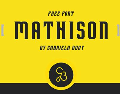 MATHISON - FREE DISPLAY FONT