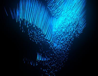 Abstract aqua world