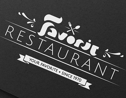 Favorit Restaurant Logo Design