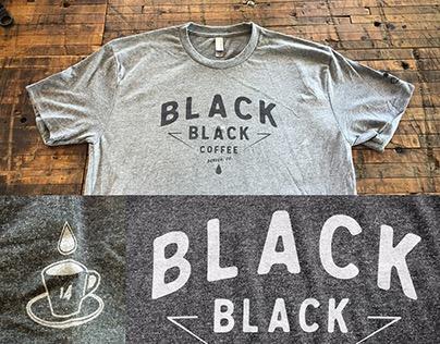 Black Black Coffee's 1 year anniversary T-shirt design.