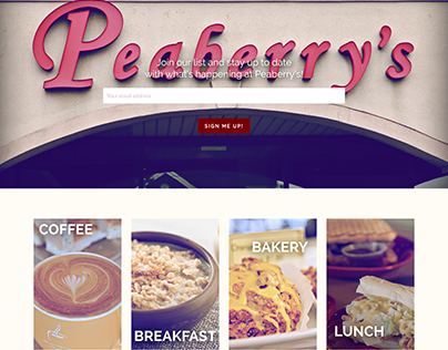 Peaberry's Cafe & Bakery Website