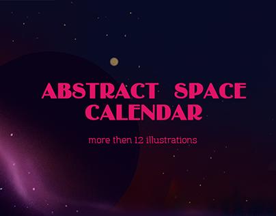 space calendar illustrations