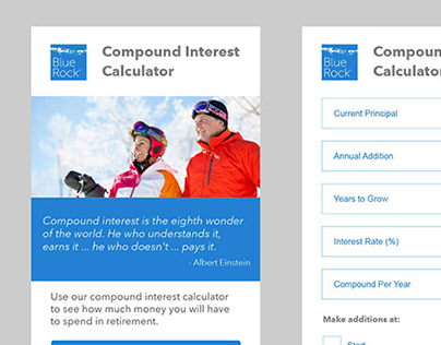 UX Design - Compound Interest Calculator