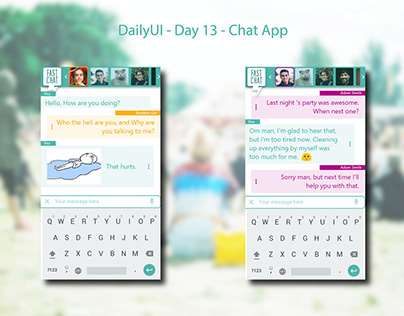 DAilyUI - Day13 - Chat Interface