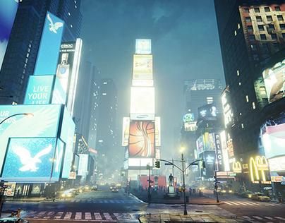 Times square - Unreal Engine