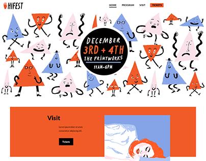 HiFest | Hastings Illustration Festival (concept)