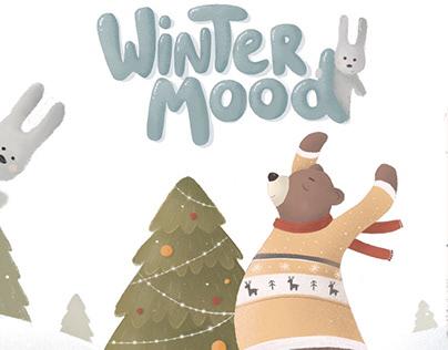 WINTER MOOD illustrations for children's