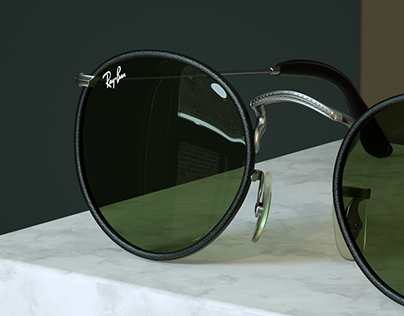 Ray-ban Leather Series | 3D