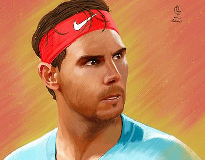 Nadal Oz Galeano Portrait drawing
