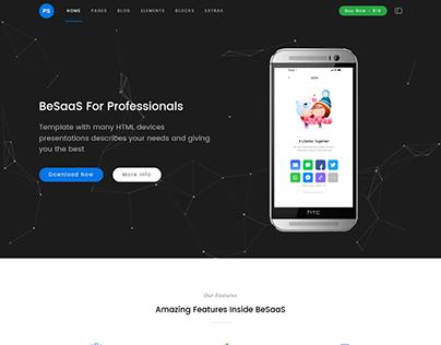 BeSaaS - Responsive Bootstrap SaaS, Software & WebApp