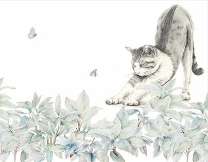 Wonder garden-Cat