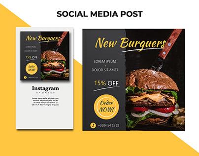 Stylish and modern instagram post design