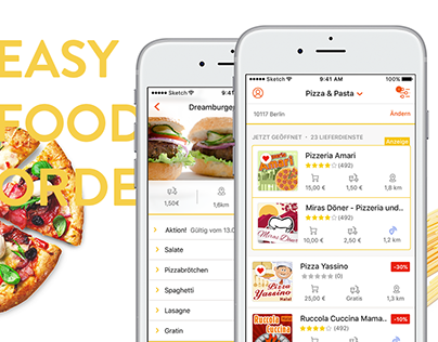 pizza.de iOS mobile app - UI/UX