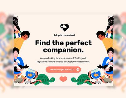 Adopte ton animal - Landing page 🐶 ❤️