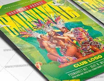Carnival of Brazil Flyer - PSD Template