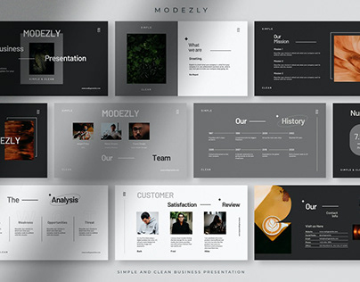 Modezly - Simple and Clean Business Presentation