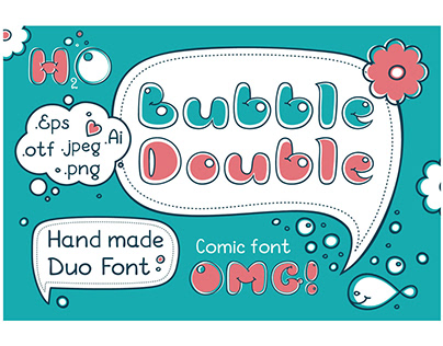 Bubble Double Duo font.